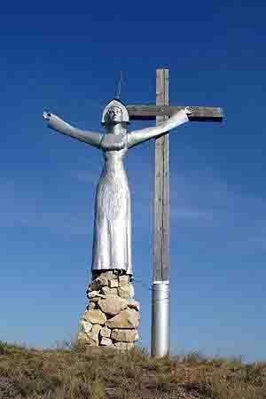 """nrufxso0xma В Башкирии исламисты спилили поклонный крест и скульптуру """"Труженица тыла"""" Антитеррор Башкирия Люди, факты, мнения"""