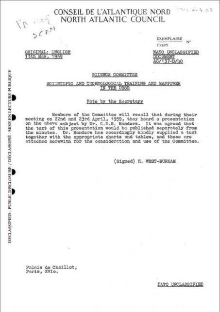 1384723448_1d5c99999 Аналитики НАТО о системе образования в СССР Анализ - прогноз