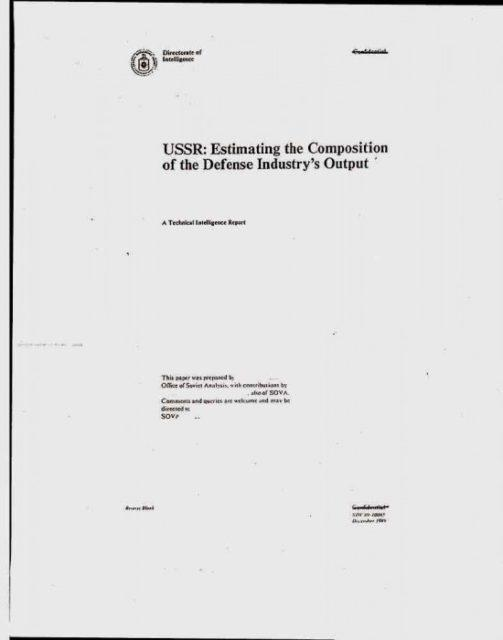 7655984584 Рассекречен доклад ЦРУ по СССР Анализ - прогноз