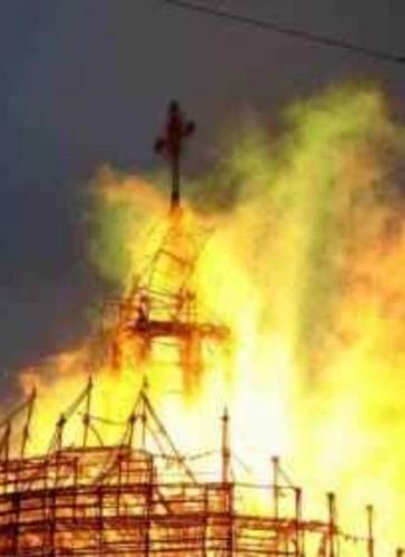 41342352545 Башкирия: в селе Семено-Петровское сгорела старинная церковь Башкирия Православие