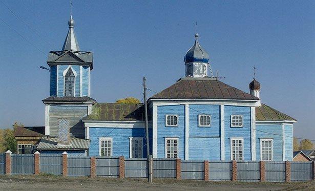 56363737 Башкирия: в селе Семено-Петровское сгорела старинная церковь Башкирия Православие