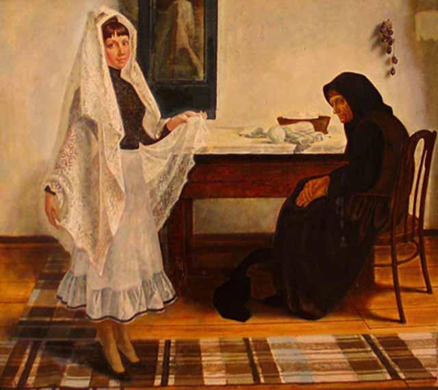 235252624624 Оренбургский пуховый платок в Ясной Поляне Люди, факты, мнения Оренбургская область