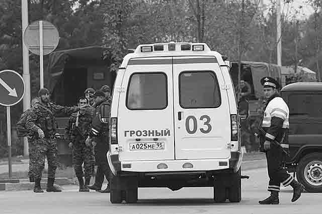 41435325 Полицейские из Башкирии ранены в Грозном в результате теракта на КПП Антитеррор Башкирия