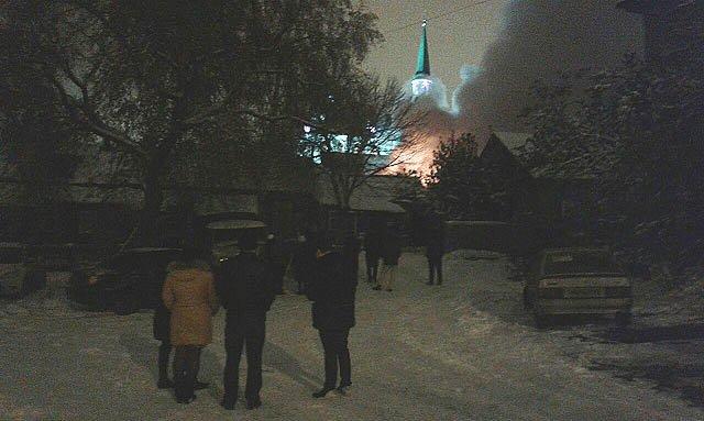 32424 Пожар рядом с Первой соборной мечетью Уфы Башкирия Люди, факты, мнения