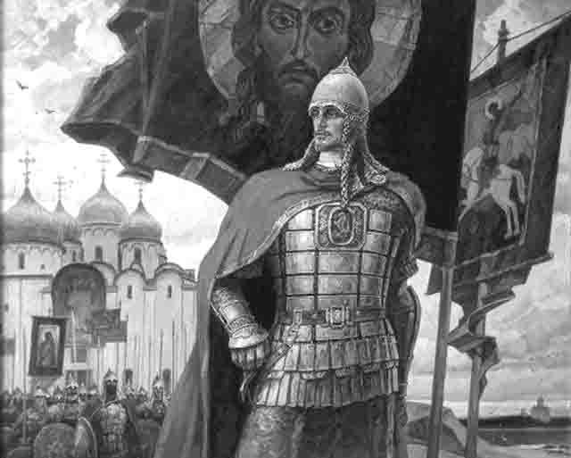 52556 В Нижнем Новгороде под знаменем Александра Невского Нижегородская область Православие