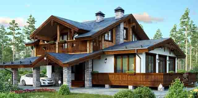 733 Дом в стиле шале Свой дом