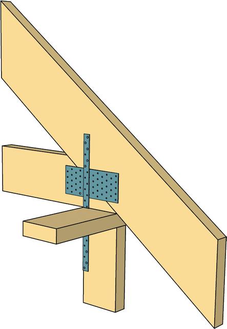 -деревянных-ферм-стальными-перфорированными-лентами Стропильная ферма своими руками - скандинавская технология Свой дом