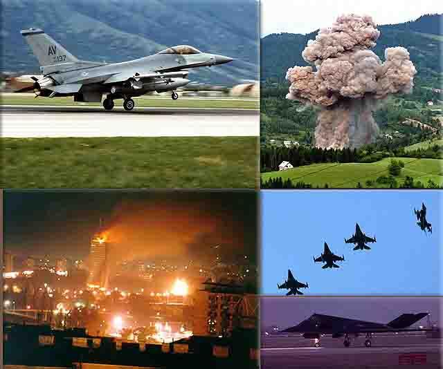 bombardirovshhik-nato-bombit-belgrad Военно-воздушные силы США - общий анализ Анализ - прогноз Защита Отечества