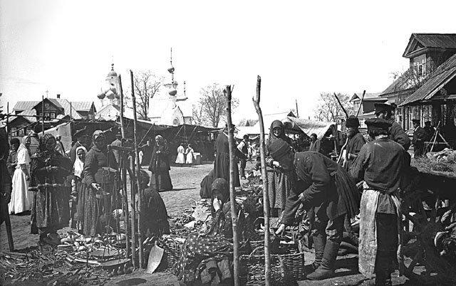 bazar-okolo-cerkvi-v-sele-bor-1894-g.-bor-nizhegorodskaja-oblast Нижегородская область Нижегородская область Посреди РУ Регионы