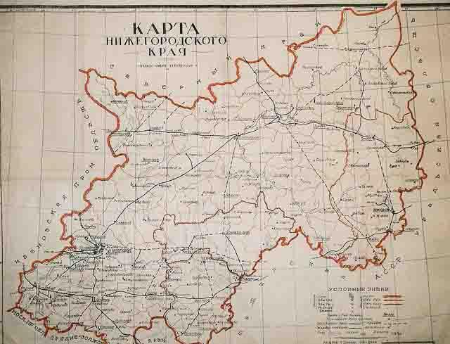 karta-nizhegorodskogo-kraja Нижегородская область Нижегородская область Посреди РУ Регионы