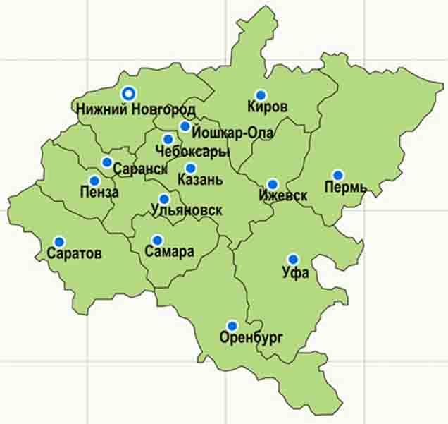 pfo-stolicy Приволжский Федеральный округ Посреди РУ Регионы